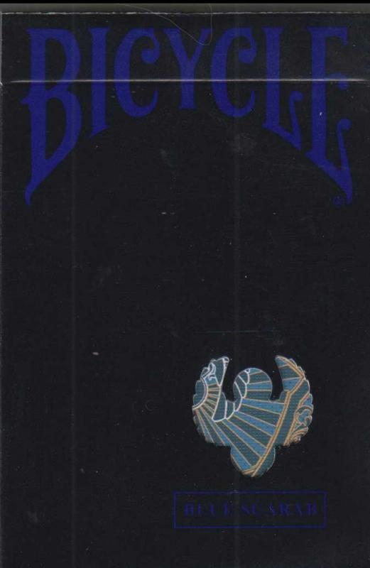 Blue Scarab Bicycle Playing Cards