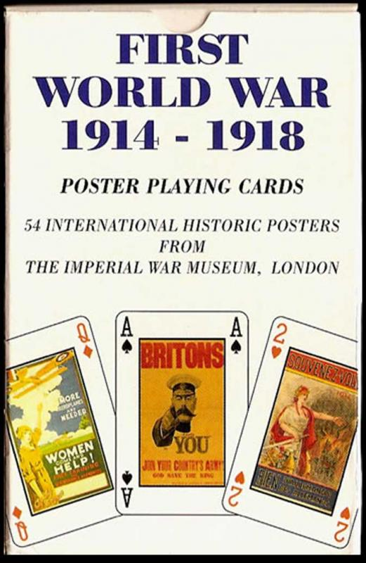 First World War 1914 - 1918 - Poster Playing Cards