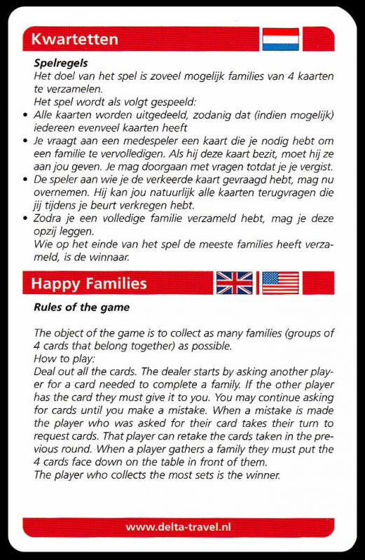 The Amsterdam Happy Families Game