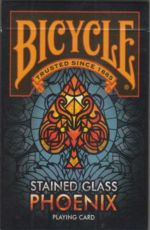 Stained Glass Phoenix Bicycle Playing Cards