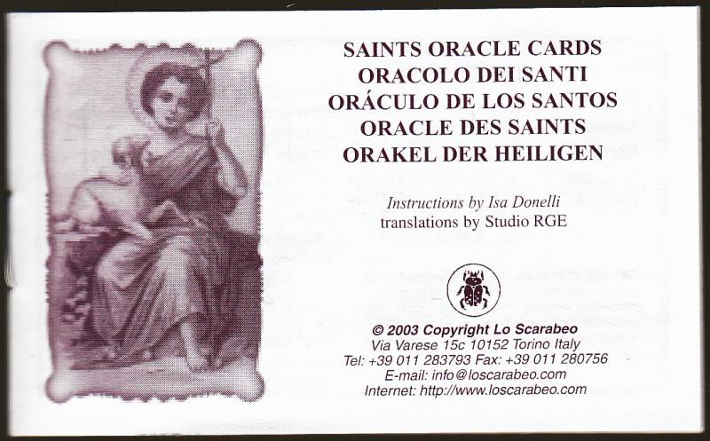 Saints Oracle Cards